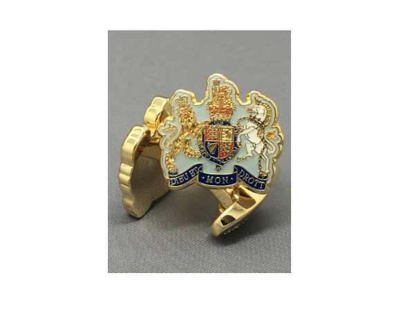 Royal Navy Warrant Officer Cufflinks - Luxury Gold
